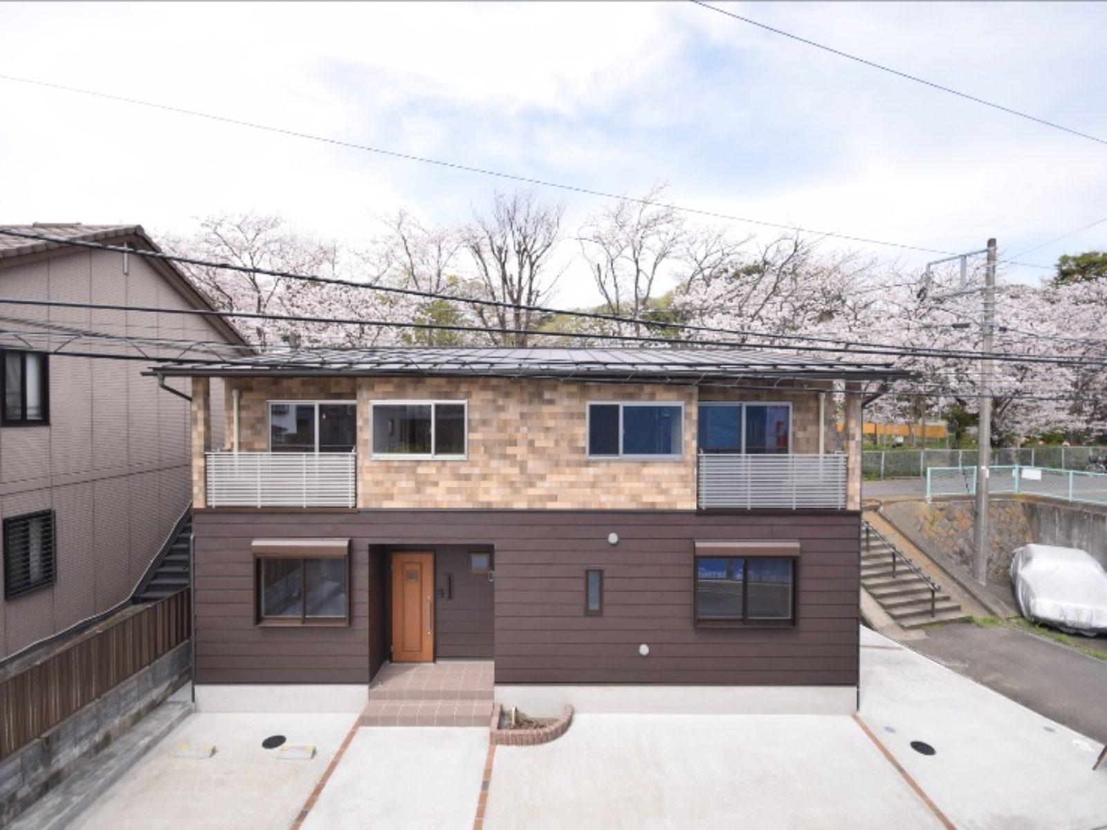 桜の見える家